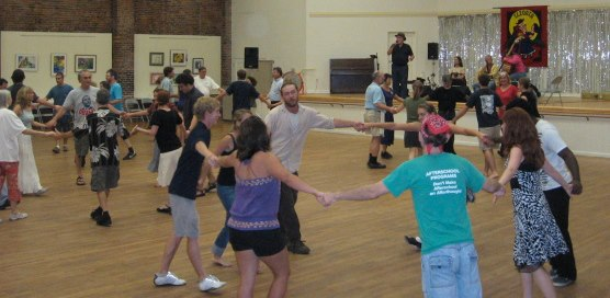 Dancing at a Contra Dance